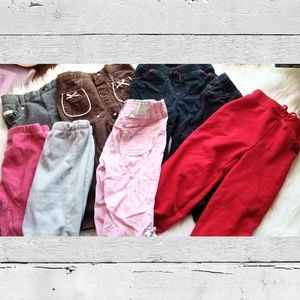 Girls Size 18 Months Pants Lot of 8 Bottoms 18 M0